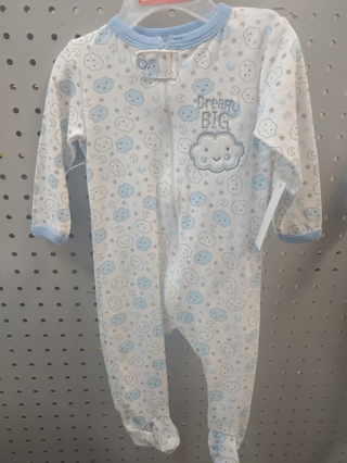 "NWT! Swiggles Baby Boys Sleeper ""DREAM BIG"" Size: 3-6 Mths 100% Cotton  Free Shipping"