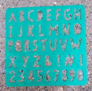 LETTERS OF THE ALPHABET STENCILS LOT 2