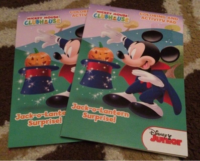 Disney Mickey Mouse Clubhouse Coloring and Activity Books Halloween New