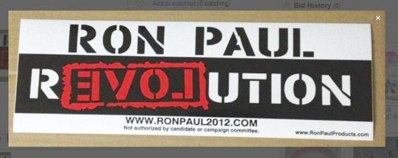 NEW RON PAUL President REVOLUTION Bumper Sticker JUMBO ADHESIVE END THE FED Political FREE SHIPPING