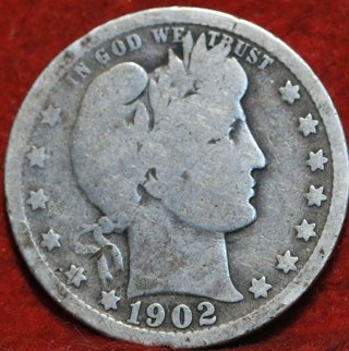 1902 P Barber Quarter (90% Silver) !!! 117 Years Old !!!