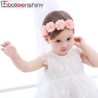 BalleenShiny New Fashion Baby Girls Lace Flowers Headband Kids Hair Accessories Newborn Elastic Cu