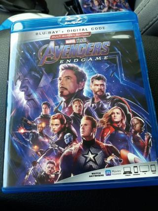 Marvel Avengers Endgame Blue Ray Auction #3