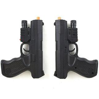 2 PC UKARMS SPRING AIRSOFT PISTOL HAND GUN w/ LASER SIGHT LED FLASHLIGHT 6mm BB