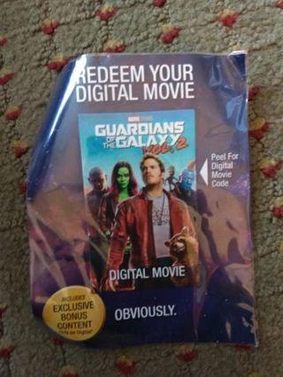 Guardians of the Galaxy Vol 2 HD Vudu uv code
