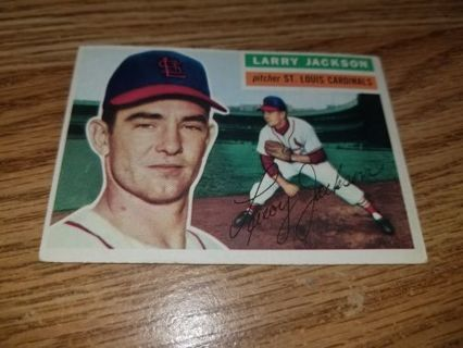 1956 Topps Baseball Larry Jackson #119 St Louis Cardinals,VG condition,Free Shipping!
