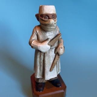 Weird Vintage 1958 toriart anri surgeon figurine sculpture