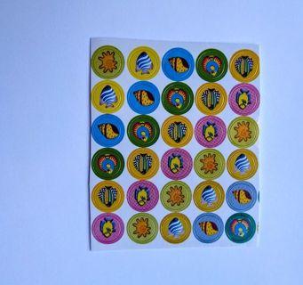 Vintage stickers: tiny Fish 2