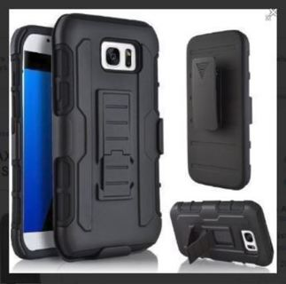 1 SAMSUNG GALAXY s7 EDGE Cell Phone Case Clip Holster Kickstand Scratch Resistant Shock Absorbent