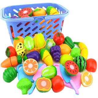 Set Fruit Vegetable Food Reusable Play Toy