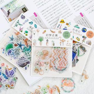 40pcs/pack Flamingo Unicorn Flower Seaweed Diary Sticker Kawaii Planner Scrapbooking Sticky Statio