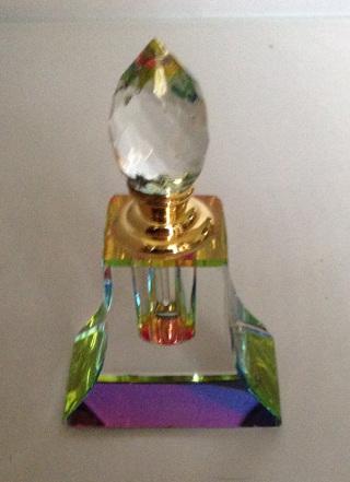 MURANO CRYSTAL PERFUME BOTTLE