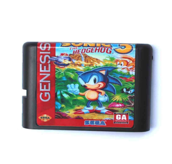 Sonic The Hedgehog 3 16 bit MD Game Card