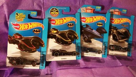 2015 Hot Wheels Batmobile Lot