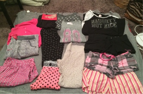 HUGE PINK/VICTORIAS SECRET clothing lot!! Medium-small/Xsmall