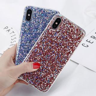 iPhone X 6s 7 8 Bling Glitter Sparkle Rubber Soft TPU Back Case Cover For Apple
