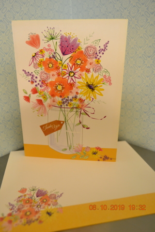 ****MASON JAR FULL OF FLOWERS BLANK CARD W/MATCHING ENVELOPE***FREE SHIPPING