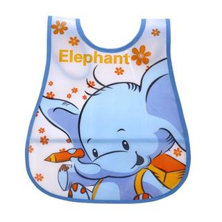 New Baby Bibs Newborn Cartoon Feeding Cloth EVA Plastic Waterproof Lunch Feeding Bibs Children Adj