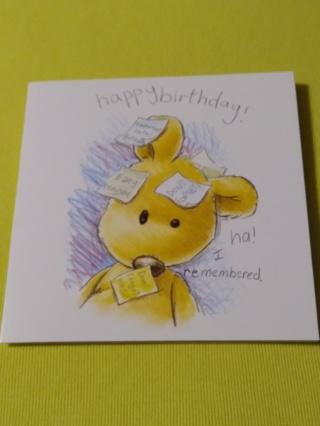 Greeting Card - Birthday Bear