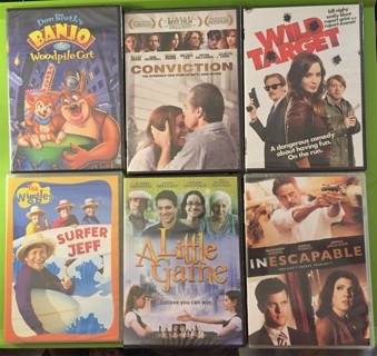 New 6 DVD's Hilary Swank, Ralph Macchio, Joshua Jackson, Marisa Tomei