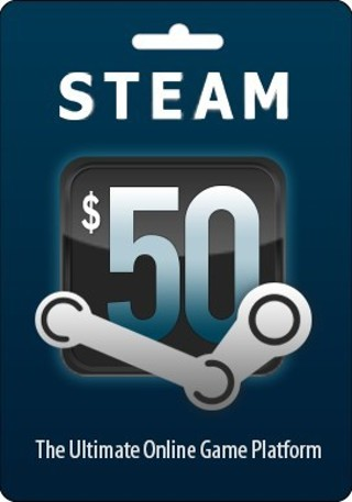 1 NEW Valve Steam Wallet $50 PHYSICAL Gift Card Code