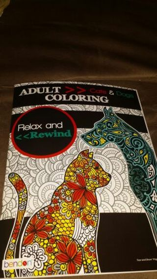 Adult cat & dog coloring book! Brand new
