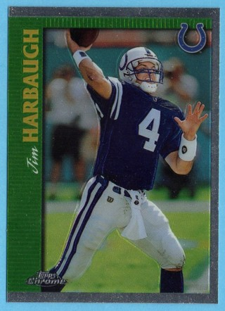 1997 Topps Chrome - Jim Harbaugh - Colts
