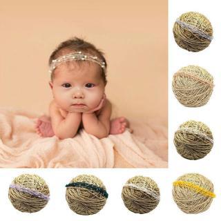 Newborn Baby Soft Mohair Pearl Headband Hair Band Photography Props Headwear