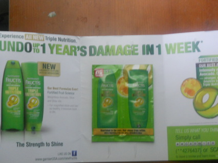 Free samples of garnier fructis sleek & shine zero | hot coupon world.