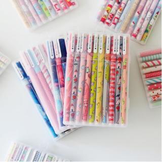 10pcs 6pcs Colorful flower Gel pen Office stationary kawaii school supplies canetas Cute pen lapic