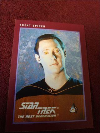 Star trek card - Brent Spiner