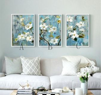 No Framed Modern Abstract HD Print Flower Home Wall Art Dec Canvas oil painting