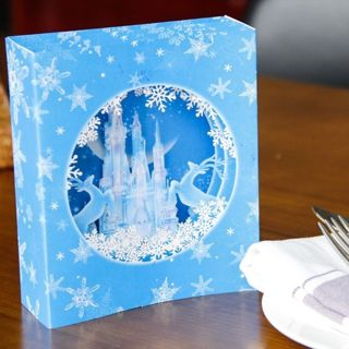 3D Pop Up Ice Castle Snowflake Deer Greeting Holiday Card Merry Christmas Gif