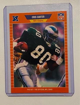 1989 Cris Carter Rookie Card HOF