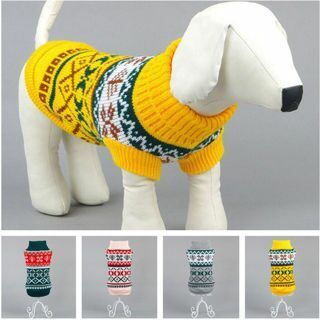 Pet Dog Jumper Sweater Knitwear Coat Puppy Winter Warm Clothes Costume Apparel