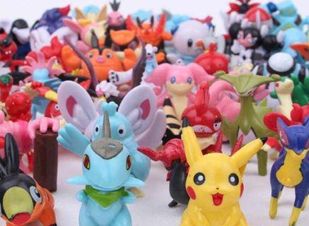 NEW 5 pcs RANDOM Tiny Pokemon Figures Winner Gets FIVE PCS Figures Anime Manga Pocket Monster