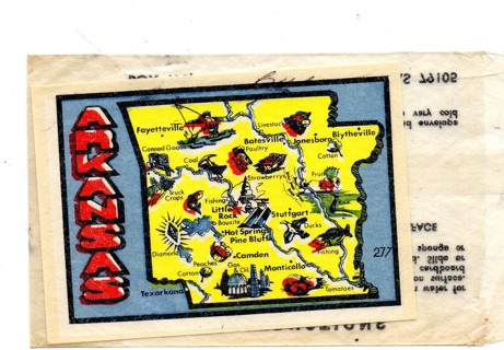 Vintage 1950's Impko Sticker/Decal: Alaska