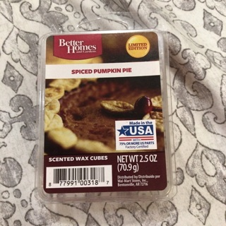 BETTER HOMES & GARDENS SPICED PUMPKIN PIE WAX MELTS