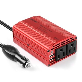 New BESTEK 300W Power Inverter DC 12V to 110V AC Car Inverter with Dual USB Car Adapter