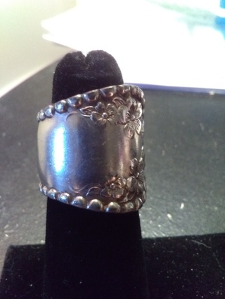 Silver Spoon Ring SZ 4