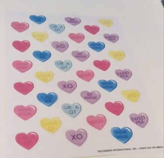 VALENTINES SCENTED STICKERS 2 SHEETS
