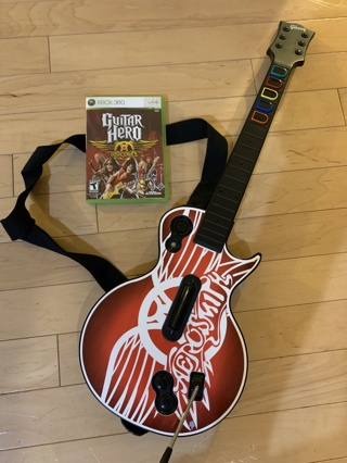 Guitar Hero Aerosmith for Xbox 360 - used in good condition
