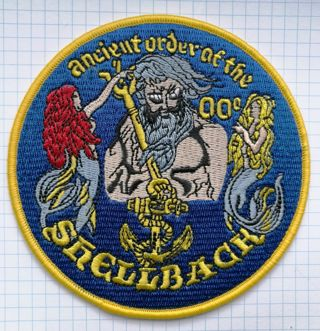 Crossing of the Equator Shellback  Embroidered Cloth Iron On Patch