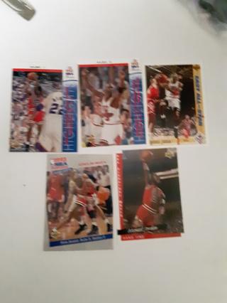 * 5 Michael Jordan cards *
