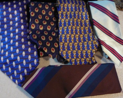 5 Fashionable Men's Barely Worn Ties, Levy, Jos a Banks, etc.
