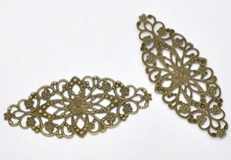 Oval craft embellishments