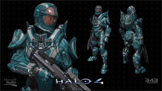 Free: Halo 4 Oceanic Circuit Armor Skin DLC Code Xbox 360