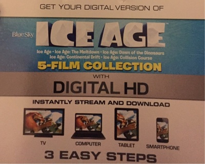 Ice Age 5 Film Collection  Digital HD Fox From Bluray