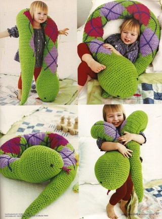 Free: Huge Crochet Toy Snake big as your Little Person  PDF