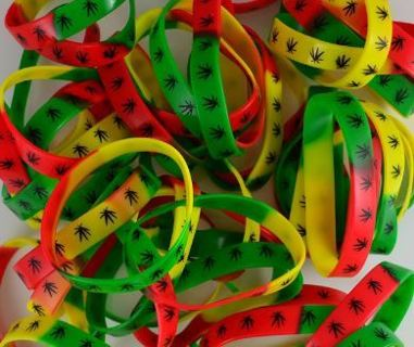 1 Cannabis Leaf Wristband Bracelet Pot Plant Marijuana Jewelry ~ Winner Wins ONE!..GIN=FAST SHIPPING